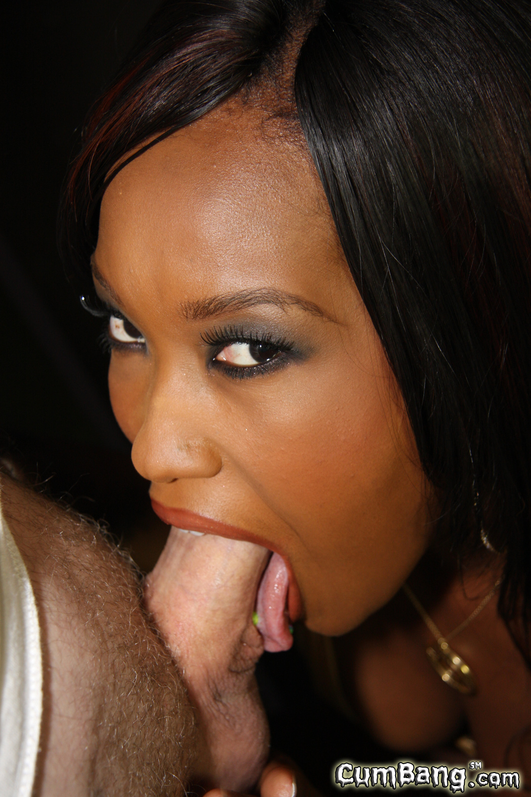 Ebony Eyes Roll Back Orgasm
